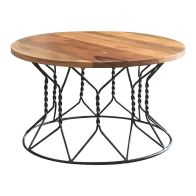 See more information about the Ravi Solid Wood Round Coffee Table