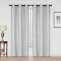 See more information about the 54x90in Hamilton McBride Diamond Curtain Panel Silver