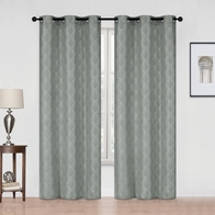 See more information about the 54x90in Hamilton McBride Diamond Curtain Panel Charcoal