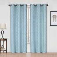 See more information about the 54x90in Hamilton McBride Diamond Curtain Panel Teal
