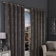 "See more information about the Hamilton McBride Charcoal Florence Blackout Eyelet Curtains (46"" x 54"")"