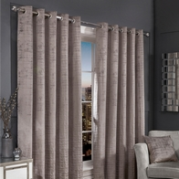 "See more information about the Hamilton McBride Silver Florence Blackout Eyelet Curtains (46"" x 54"")"