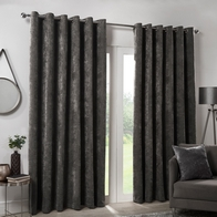 "See more information about the Hamilton McBride Charcoal Italian Velvet Blackout Eyelet Curtains (46"" x 54"")"
