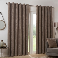 "See more information about the Hamilton McBride Dove Italian Velvet Blackout Eyelet Curtains (46"" x 54"")"