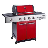 See more information about the Jupiter 4 Burner Gas Hybrid Barbecue - Red