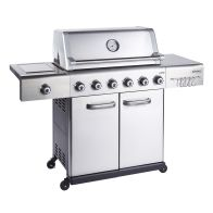 See more information about the Jupiter 6 Burner Gas Hybrid Barbecue - Stainless Steel