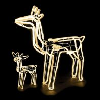 See more information about the Warm White Standing Reindeer Rope Light