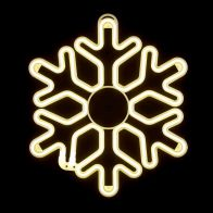 See more information about the Warm White Snowflake Rope Light