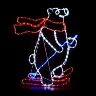 See more information about the Multicolour Skiing Polar Bear Rope Light