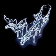 See more information about the White Reindeers Sleigh Rope Light