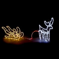 See more information about the Multicolour Small Reindeer Sleigh Rope Light