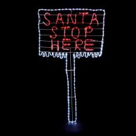 See more information about the Red & White Santa Stop Here Rope Light