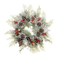 See more information about the Frosted Foliage Wreath Green 35cm