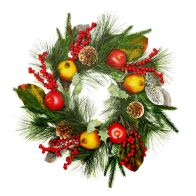 See more information about the Christmas Fruit Wreath Mixed 50cm