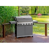 See more information about the Grillstream Stainless Steel Classic 6 Burner Hybrid Gas / Charcoal BBQ