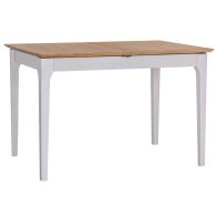 See more information about the Necton Oak Dove Grey 1.2-1.6m Extending Dining Table