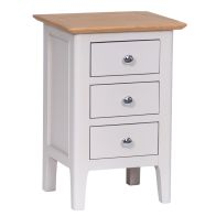 See more information about the Necton Oak Dove Grey 3 Drawer Small Chest