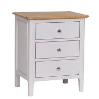 See more information about the Necton Oak Dove Grey 3 Drawer Extra Large Chest