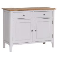 See more information about the Necton Oak Dove Grey 2 Door 2 Drawer Sideboard