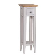 See more information about the Necton Oak Dove Grey 1 Drawer Plant Side Table
