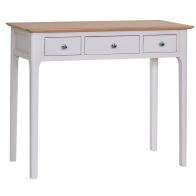 See more information about the Necton Oak Dove Grey 3 Drawer Dressing Table