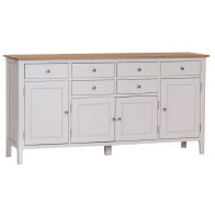 See more information about the Necton Oak Dove Grey 4 Door 6 Drawer Sideboard