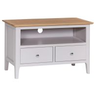 See more information about the Necton Oak Dove Grey 2 Drawer TV Unit