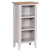 See more information about the Necton Oak Dove Grey Small Bookcase