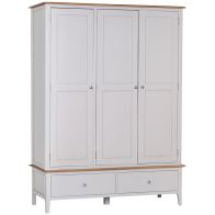 See more information about the Necton Oak Dove Grey 3 Door 2 Drawer Wardrobe