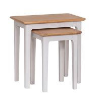 See more information about the Necton Oak Dove Grey 2 Nest Of Tables