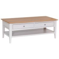 See more information about the Necton Oak Dove Grey 2 Drawer Coffee Table