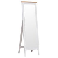See more information about the Necton Oak Dove Grey Cheval Mirror