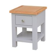 See more information about the Lucerne Oak Grey 1 Drawer Lamp Side Table