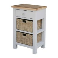 See more information about the Lucerne Oak Grey 1 Drawer Telephone Side Table