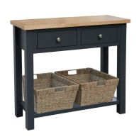See more information about the Lucerne Oak Blue 2 Drawer Console Table