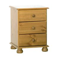 See more information about the 3 Drawer Solid Pine Bedside Chest