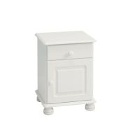 See more information about the 1 Drawer 1 Door White Contemporary Table Cabinet