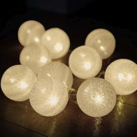 See more information about the 10 LED Glo-Globes String Lights White 6cm diameter