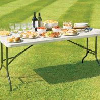 See more information about the Folding Garden Table White 6ft