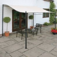 See more information about the Greenhurst 2.5 x 2m Wall Mounted Garden Gazebo