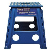 Home Essentials Large Folding Stool - Blue With White Spots