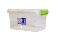 3.5L TML Stacking Plastic Storage Box Clear & Green Clip Lid