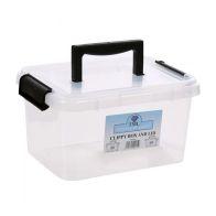 3.5L TML Stacking Plastic Storage Box Clear & Black Clip Lid