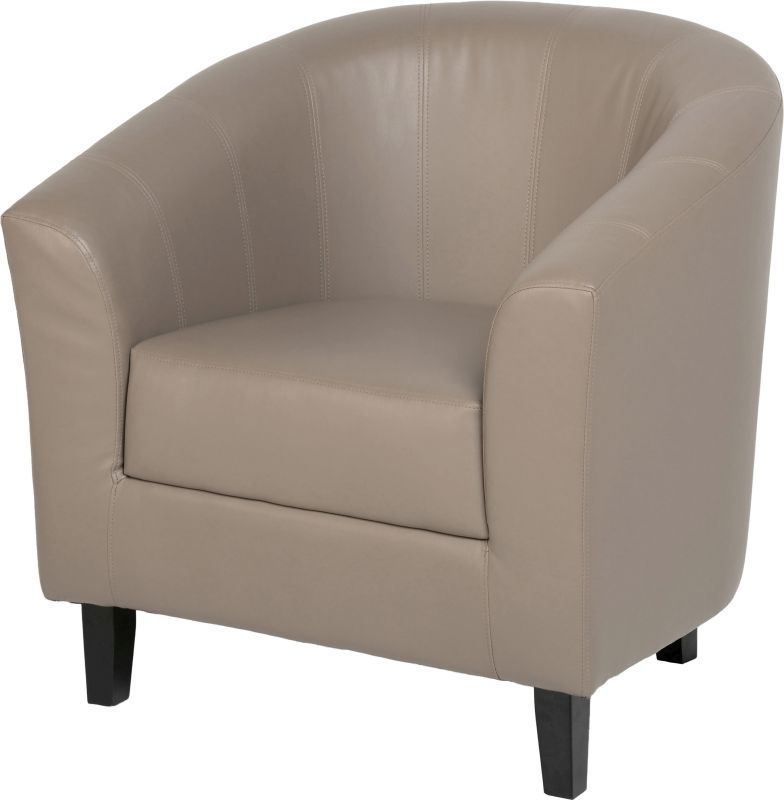 Buy Tempo Leather Tub Chair - TAUPE - Online at Cherry Lane