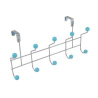 See more information about the 5 Hooks with Polyresin Ball - blue
