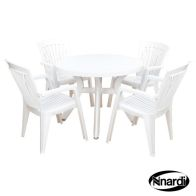 See more information about the Toscana 100 White Garden Furniture Set & 4 Diana Chairs