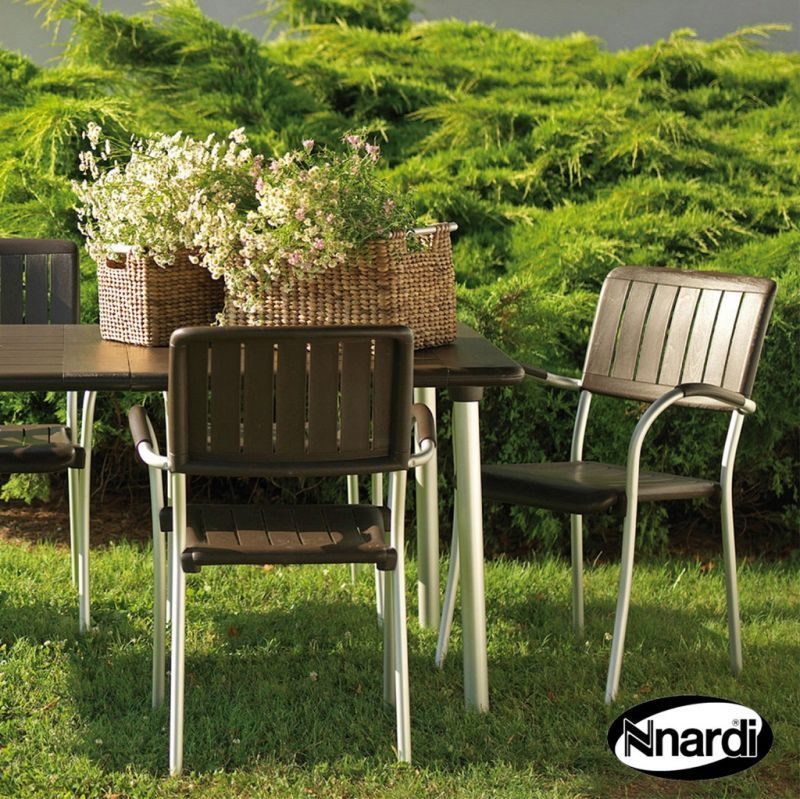 Buy Maestrale 220 Garden Furniture Set 6 Coffee Musa Chairs Online At Cherry Lane