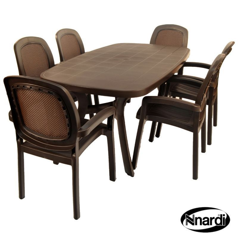 Buy Toscana 165 Garden Furniture Set 6 Coffee Beta Chairs Online At Cherry Lane