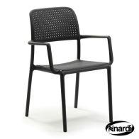 2 Pack Bora Outdoor Garden Chairs Anthracite