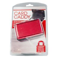 Aluminium Card Wallet Case - Red